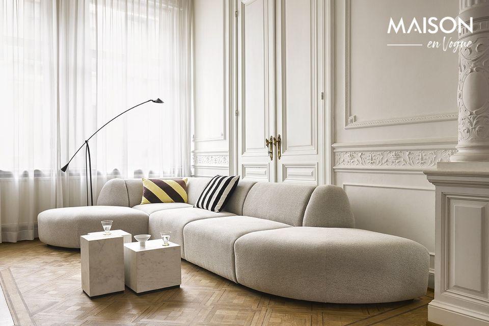 Puede combinarse con otros elementos modulares para ampliar el sofá y sobre todo para ocupar un