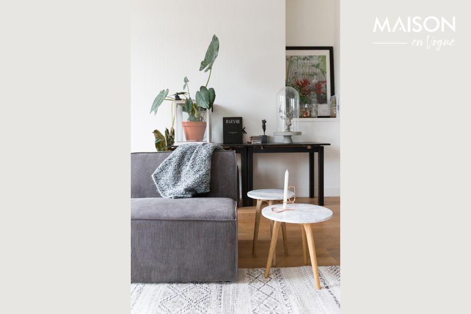 Un elegante elemento de sofá mezclador