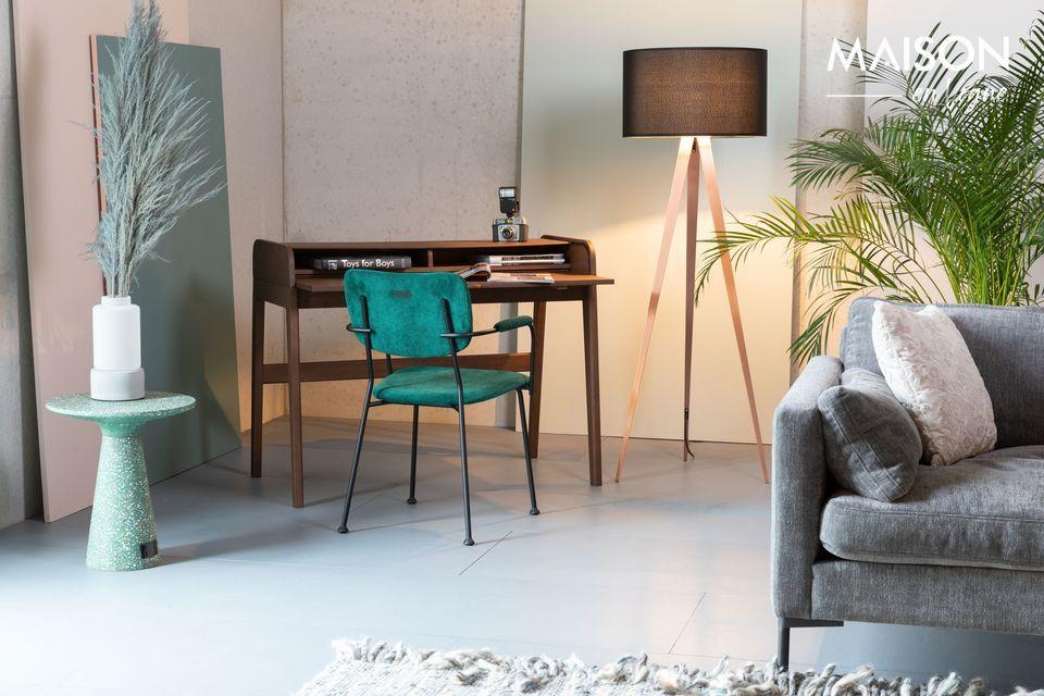 Un escritorio retráctil con un diseño auténtico