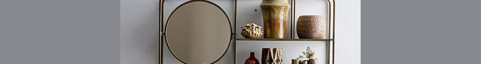 Descriptivo Materiales  Espejo con estantes Rombly