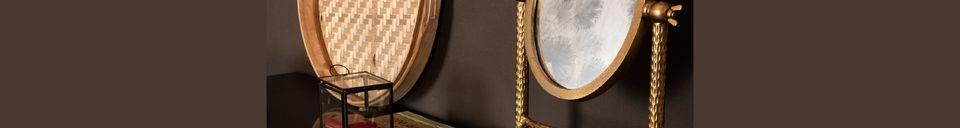 Descriptivo Materiales  Espejo de latón Falcon