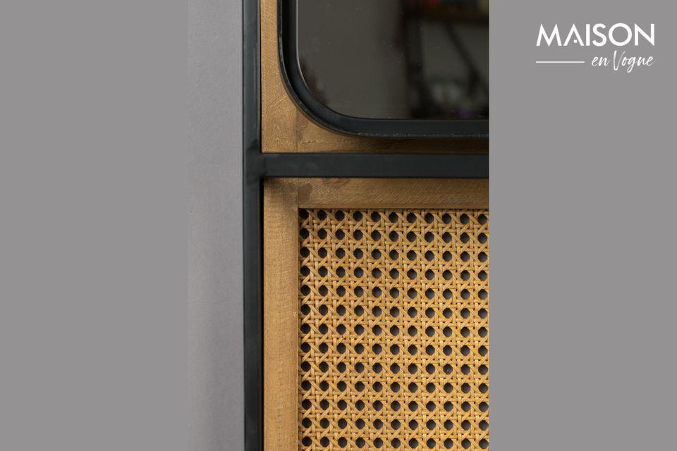Este contraste de materiales unirá el estilo industrial con la naturalidad del ratán
