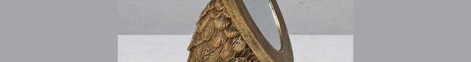 Descriptivo Materiales  Espejo oval Sorbiers con pies palmeados