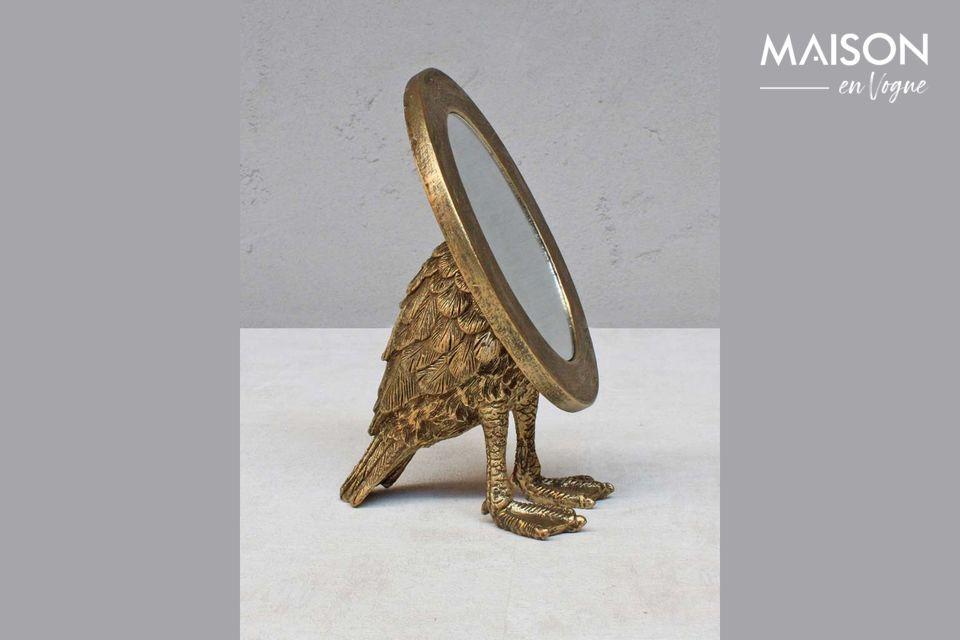 Espejo oval Sorbiers con pies palmeados Chehoma