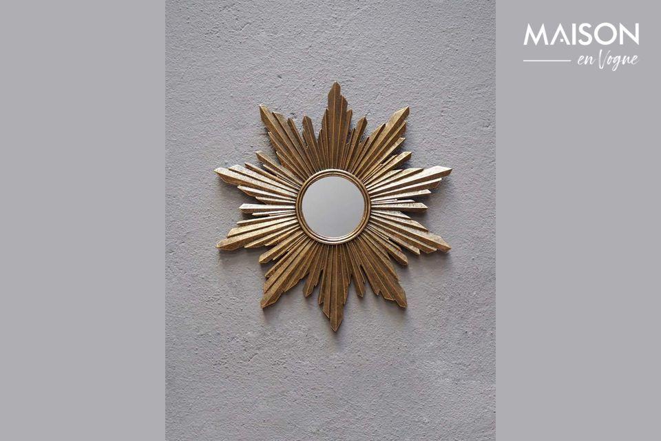 Espejo Segrois en resina dorada