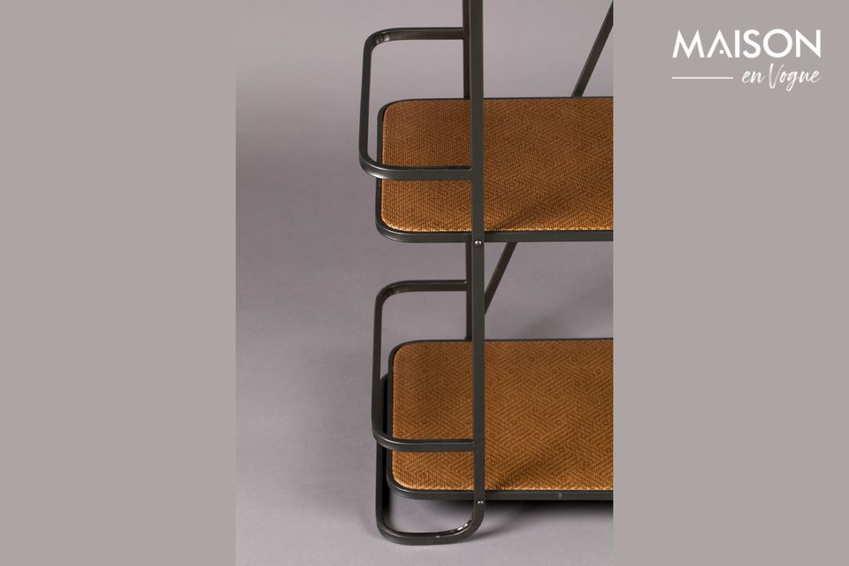 Este mueble tiene 5 estantes de papel kraft tejido para guardar sus libros y objetos decorativos