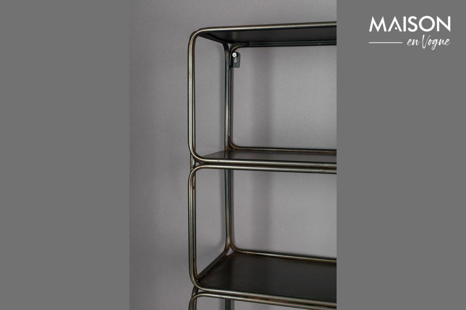 Esta ligera y elegante estantería de pared de hierro le facilitará la vida al permitirle guardar