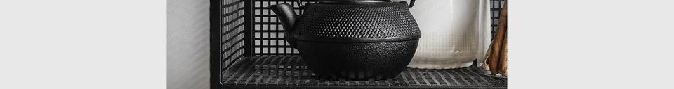 Descriptivo Materiales  Estante de pared Wire negro