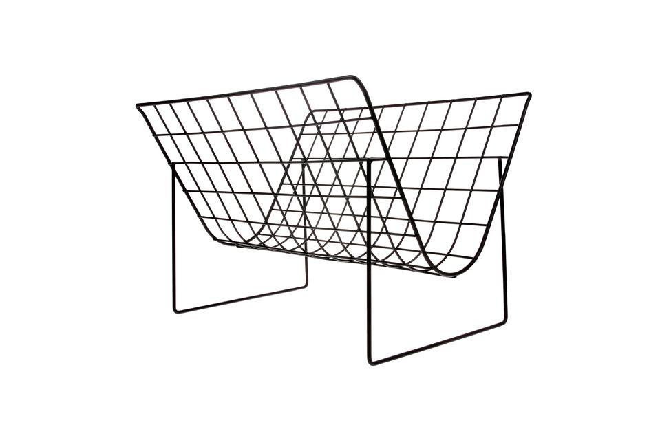 No desparrames tus revistas con este elegante revistero de Eysson hecho de alambre metálico negro