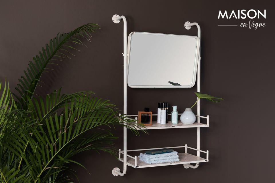 Estante y espejo de pared Barber Dutch Bone