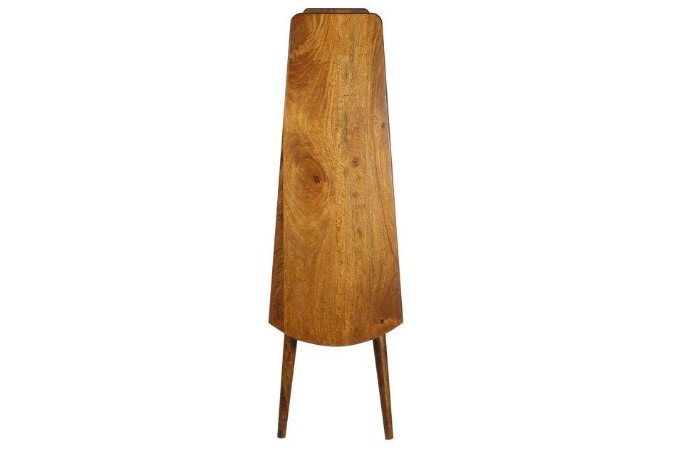 Estante de madera de mango retro