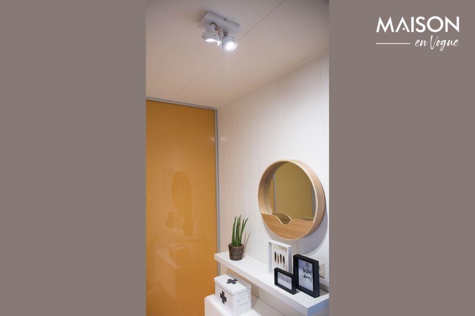 Una luz de pared para la luz natural y el diseño moderno