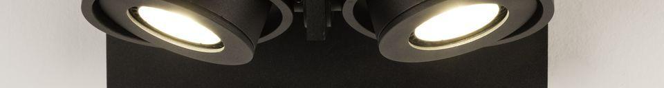 Descriptivo Materiales  Foco Luci-2 DTW negro
