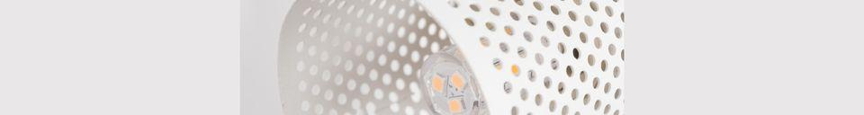 Descriptivo Materiales  Foco Sandy-2 blanco