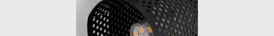 Descriptivo Materiales  Foco Sandy-2 negro