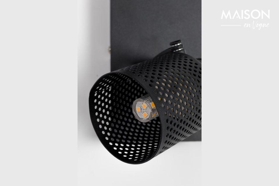 Un moderno foco doble para colocar en una pared o para colgar del techo.