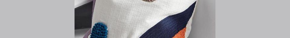 Descriptivo Materiales  Funda de cojín de algodón Lines