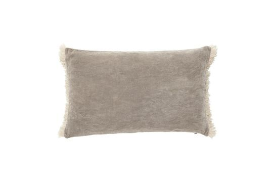 Funda de cojín Sablons en terciopelo gris Clipped
