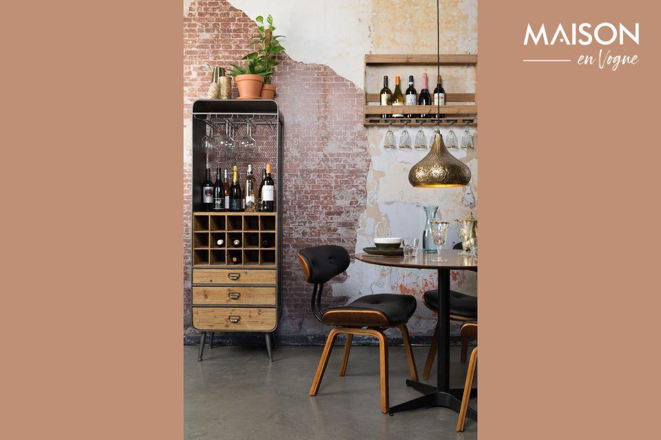 Con su estilo vintage, se inspira en un gabinete provenzal para un aspecto encantador