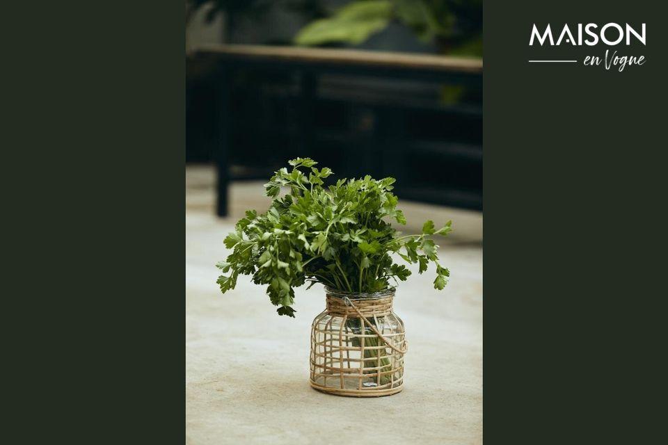 Una linterna de bambú para decorar su sala de estar