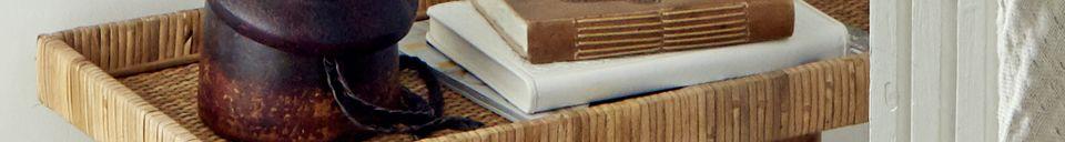 Descriptivo Materiales  Gran mesa de ratán Turn