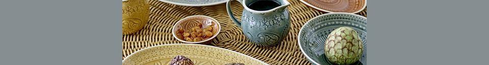 Descriptivo Materiales  Jarra de leche de gres Rani