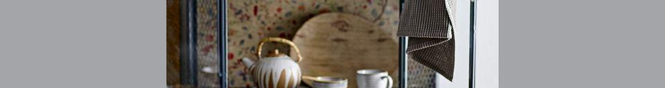 Descriptivo Materiales  Jarra de leche y azucarera Camellia en porcelana
