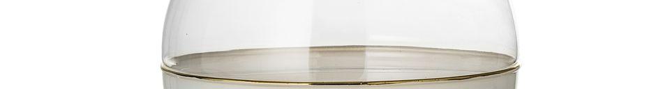 Descriptivo Materiales  Jarrón Dôme en vidrio blanco