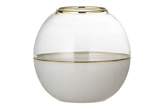 Jarrón Dôme en vidrio blanco