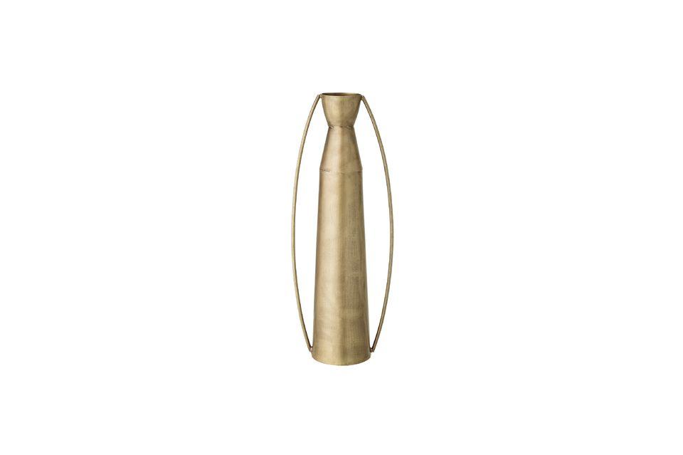 Jarrón Omicourt en metal dorado Bloomingville
