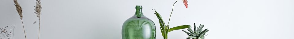 Descriptivo Materiales  Jarrón verde Lacoste