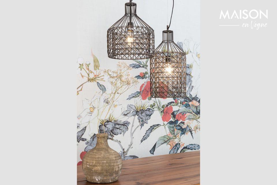 Hay una agradable ligereza cuando mira esta lámpara