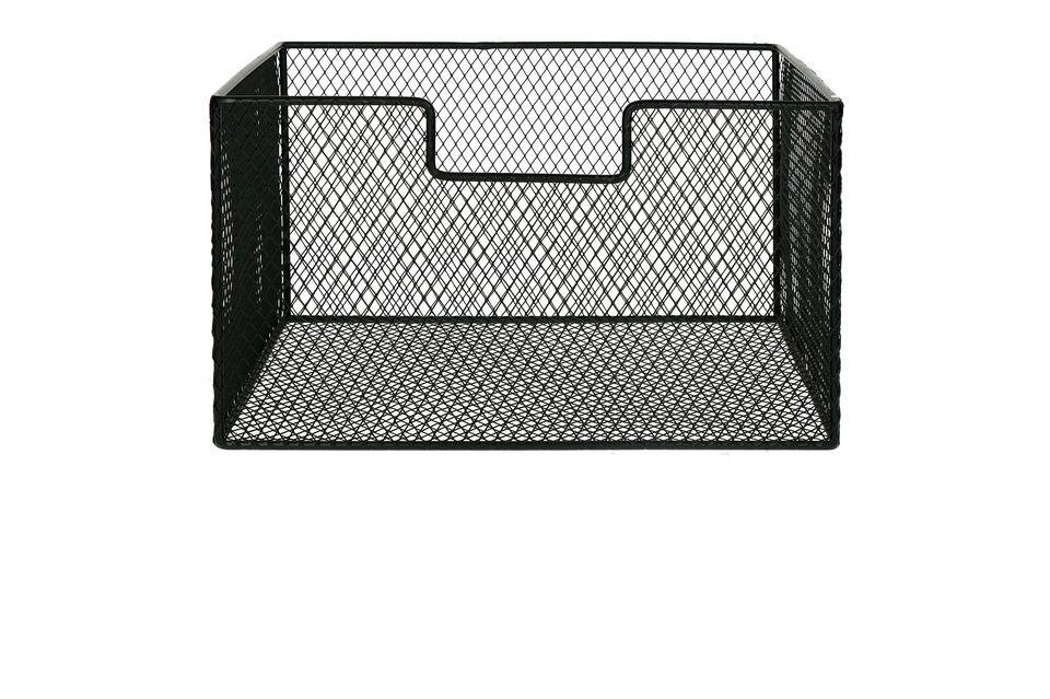 Las cestas metálicas Eszential pueden integrarse en sus estantes o colocarse en la encimera o la