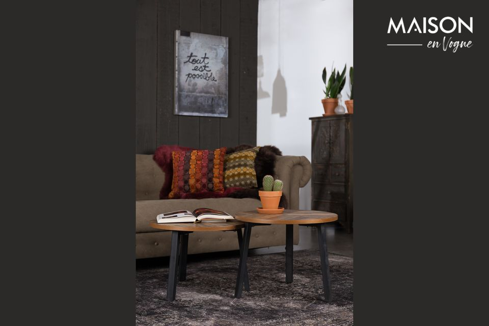 Juego de 2 mesas de café Mundu Dutch Bone