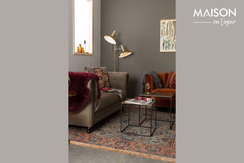 2 pequeñas mesas cuadradas de nido para su sala de estar o entrada