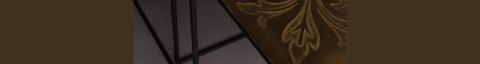 Descriptivo Materiales  Juego de 2 mesas de nido Saffra