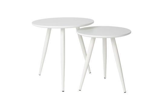 Juego de 2 mesas laterales Daven blanco