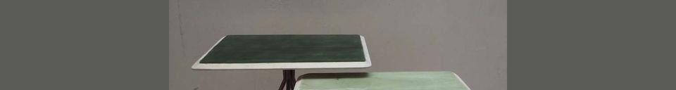 Descriptivo Materiales  Juego de 2 mesas Rêverie Vertes en madera lacada