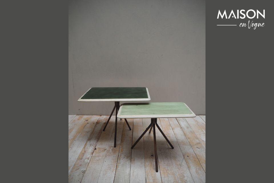 Juego de 2 mesas Rêverie Vertes en madera lacada Chehoma