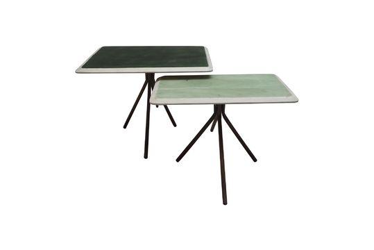 Juego de 2 mesas Rêverie Vertes en madera lacada