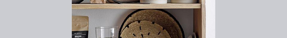 Descriptivo Materiales  Juego de 2 platos decorativos naturales Domblans