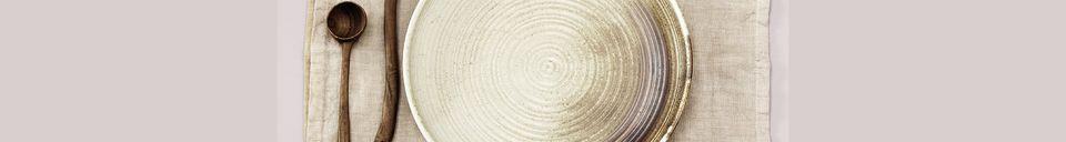 Descriptivo Materiales  Juego de 2 servilletas de lino amarillo Cavan