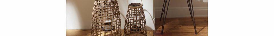 Descriptivo Materiales  Juego de 3 linternas de bambú Skagen