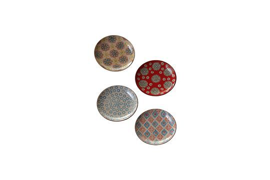 Juego de 4 platos de cerámica Bohemia