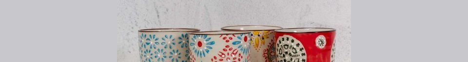 Descriptivo Materiales  Juego de 4 tazas de expreso bohemio
