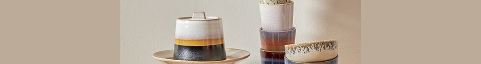 Descriptivo Materiales  Juego de 4 tazones de cerámica de los años 70