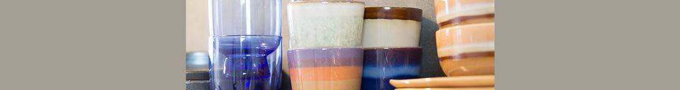 Descriptivo Materiales  Juego de 4 tazones de cerámica medianos de los años 70