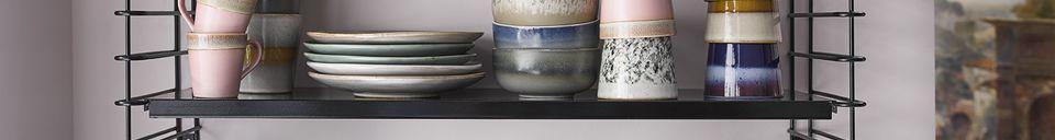 Descriptivo Materiales  Juego de 6 tazas de cerámica de los años 70
