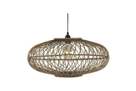 Lámpara colgante de bambú Tao Clipped