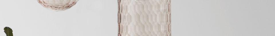 Descriptivo Materiales  Lámpara colgante de cristal con patrón Satin